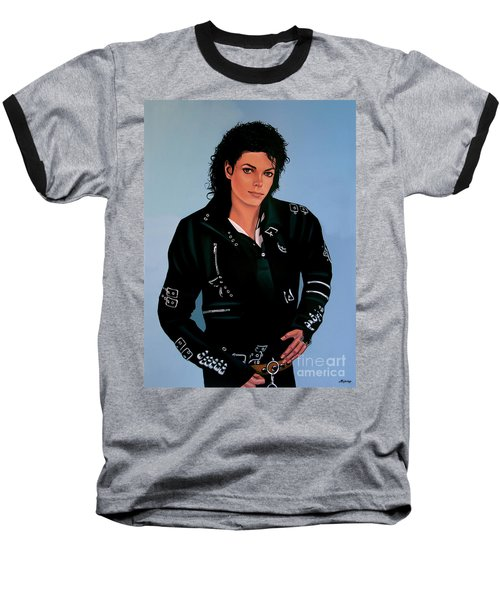 Michael Jackson Bad Baseball T-Shirt