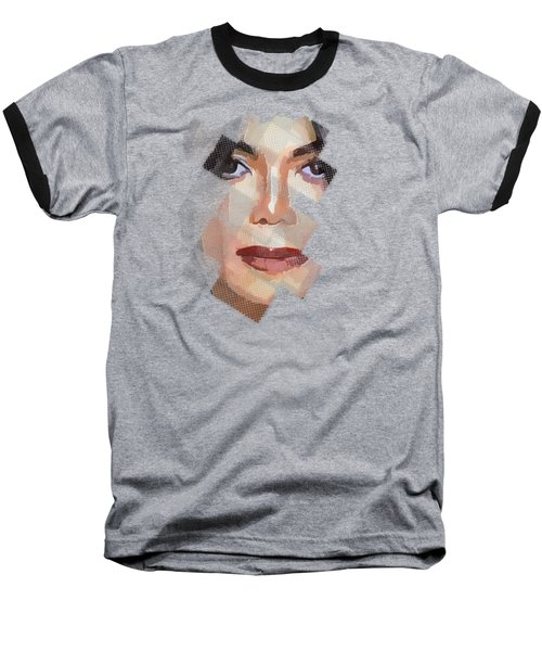 Michael Jackson T Shirt Edition  Baseball T-Shirt by Yury Malkov