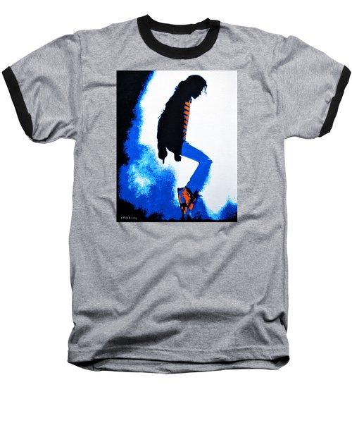 Michael Jackson Baseball T-Shirt by Victor Minca