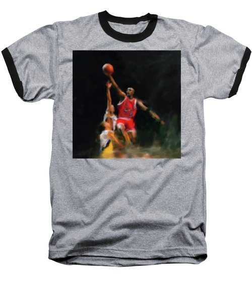 Michael Jordan 548 1 Baseball T-Shirt by Mawra Tahreem