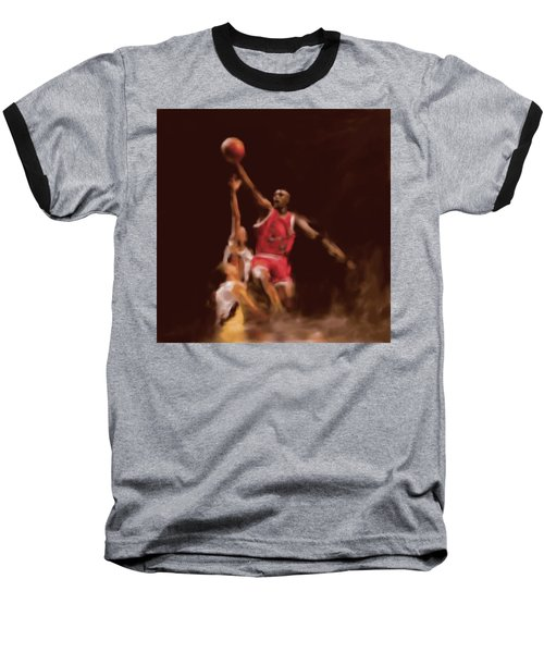 Michael Jordan 548 2 Baseball T-Shirt by Mawra Tahreem
