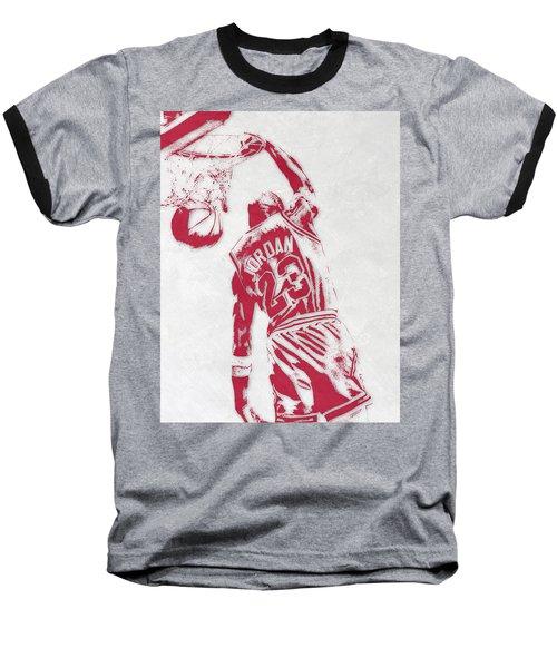 Michael Jordan Chicago Bulls Pixel Art 1 Baseball T-Shirt