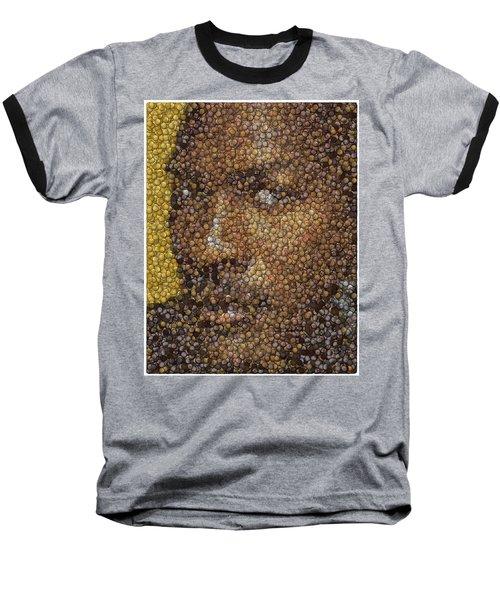 Baseball T-Shirt featuring the digital art Michael Jordan Money Mosaic by Paul Van Scott