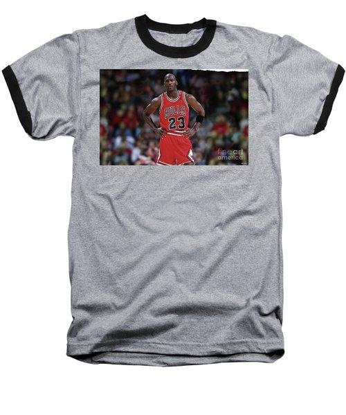 Michael Jordan, Number 23, Chicago Bulls Baseball T-Shirt