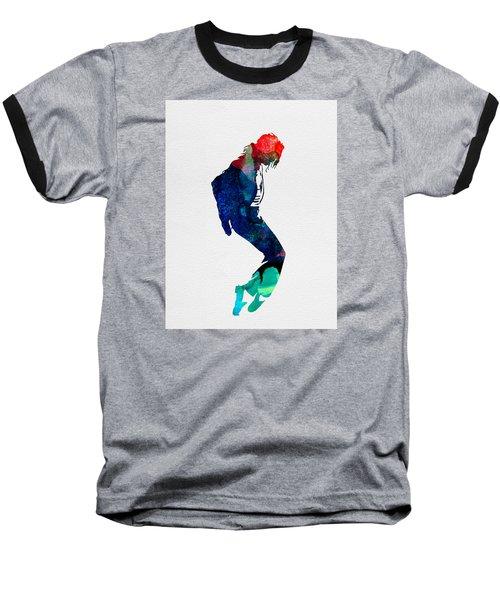 Michael Watercolor Baseball T-Shirt by Naxart Studio