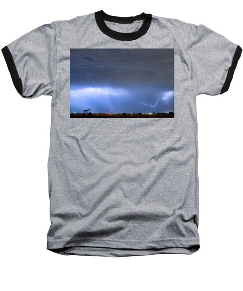 Baseball T-Shirt featuring the photograph Michelangelo Lightning Strikes Oil by James BO Insogna