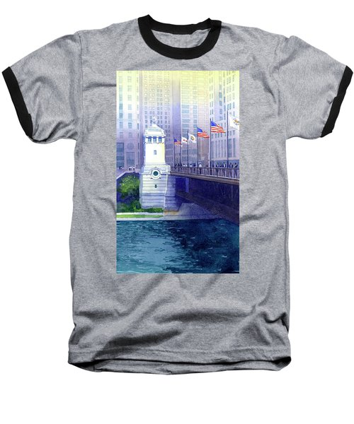 Michigan Avenue Bridge Baseball T-Shirt