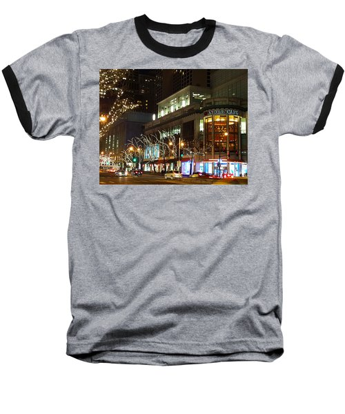 Baseball T-Shirt featuring the photograph Michigan Avenue  by Elizabeth Coats