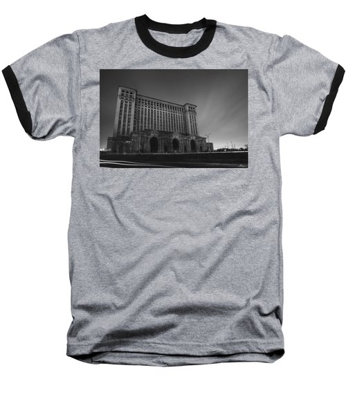 Michigan Central Station At Midnight Baseball T-Shirt by Gordon Dean II