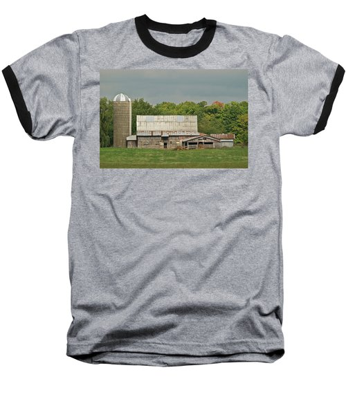 Michigan Dairy Barn Baseball T-Shirt by Michael Peychich