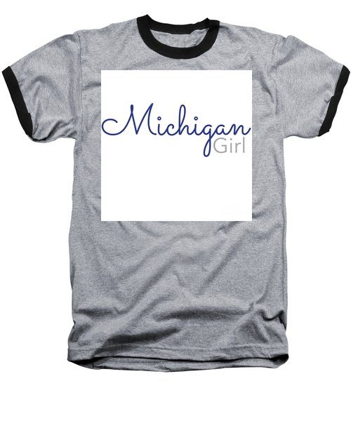 Michigan Girl Baseball T-Shirt