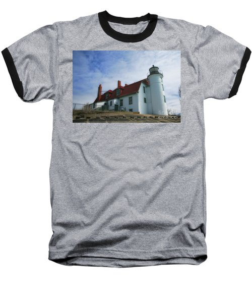 Baseball T-Shirt featuring the photograph Michigan Lighthouse by Gina Cormier