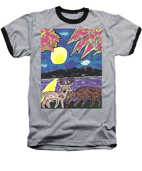 Michigan Nature Scene. Baseball T-Shirt