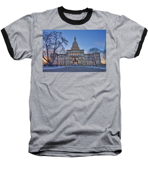 Baseball T-Shirt featuring the photograph Michigan State Capitol by Nicholas Grunas