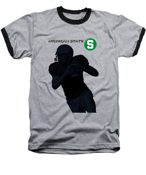 Michigan State Football Baseball T-Shirt
