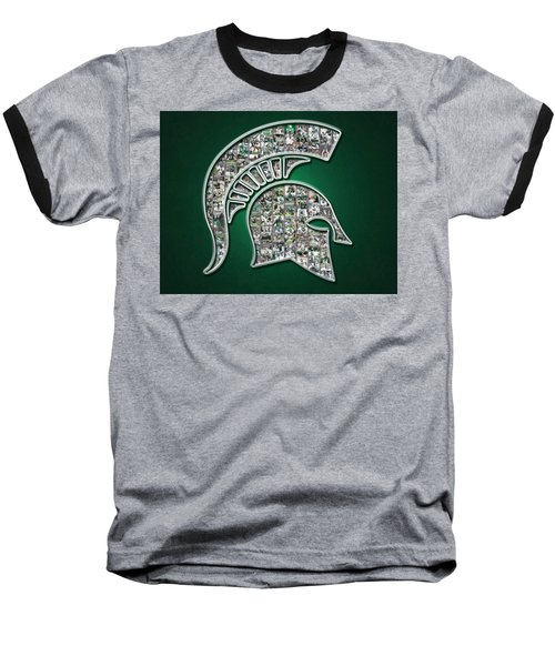 Michigan State Spartans Football Baseball T-Shirt