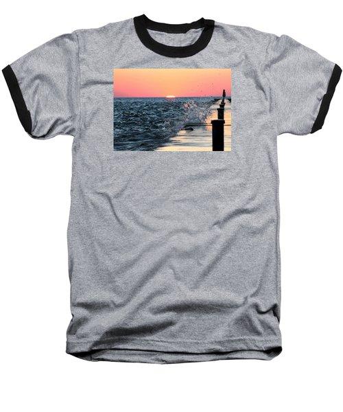 Michigan Summer Sunset Baseball T-Shirt
