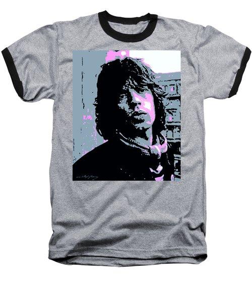 Mick Jagger In London Baseball T-Shirt