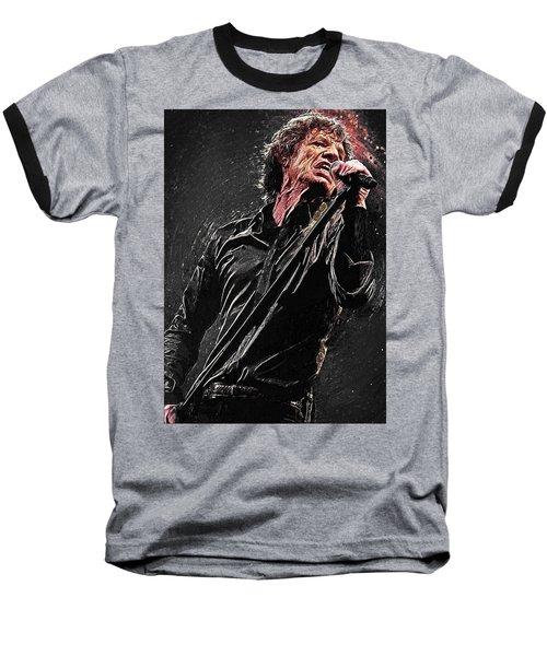 Mick Jagger Baseball T-Shirt by Taylan Apukovska