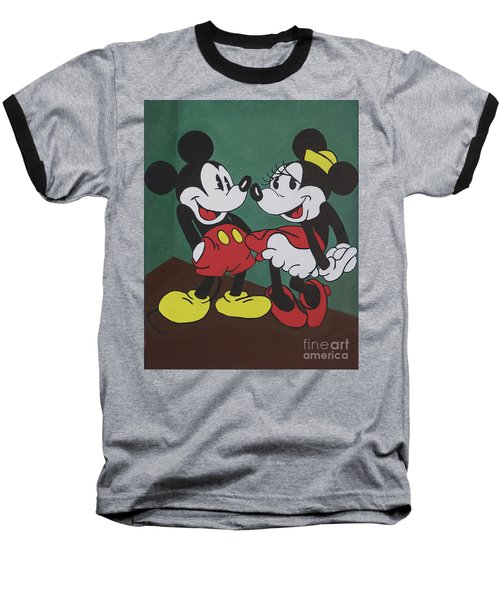 Mickey And Minnie Baseball T-Shirt
