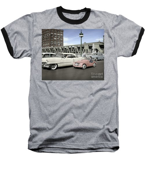 Micro Car And Cadillac Baseball T-Shirt