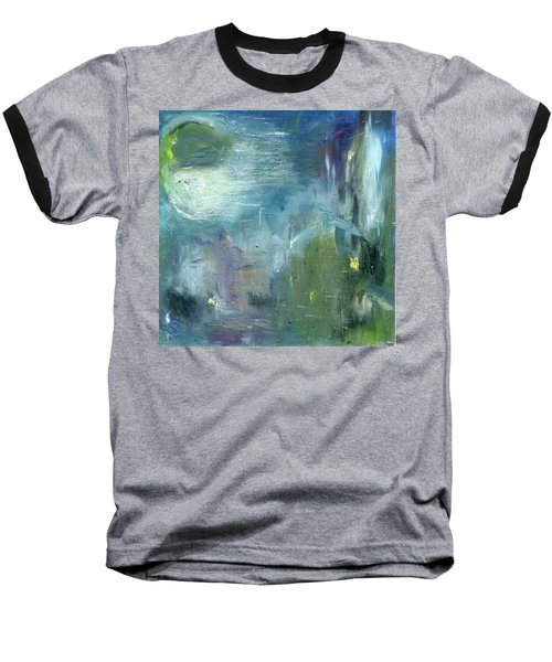 Baseball T-Shirt featuring the painting Mid-day Reflection by Michal Mitak Mahgerefteh