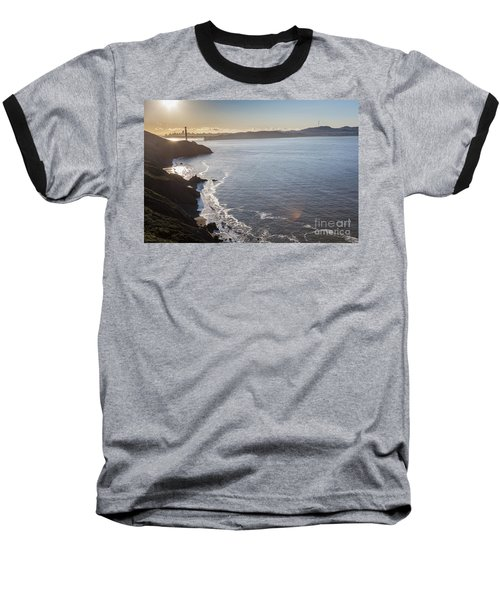 Mid Morning View Of The Downtown San Franscisco Over The Golden  Baseball T-Shirt