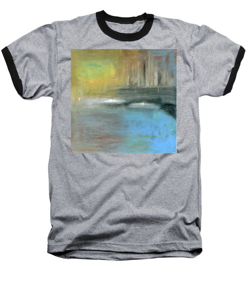 Baseball T-Shirt featuring the painting Mid-summer Glow by Michal Mitak Mahgerefteh