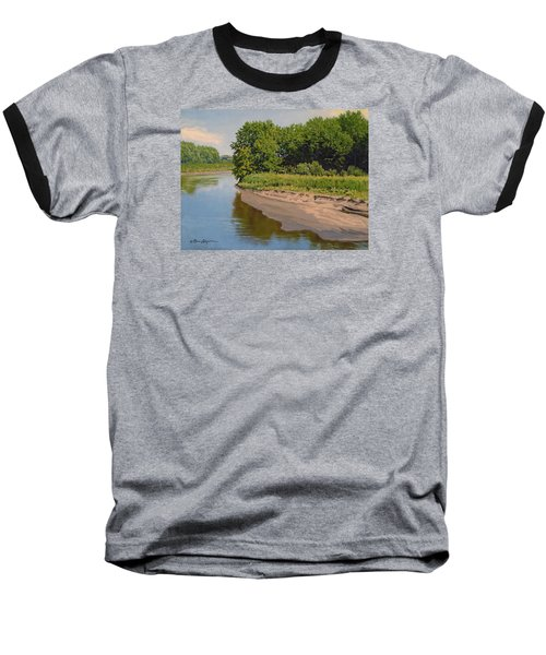 Mid Summer Prairie Stream Baseball T-Shirt