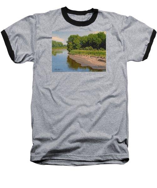 Mid Summer Prairie Stream Baseball T-Shirt