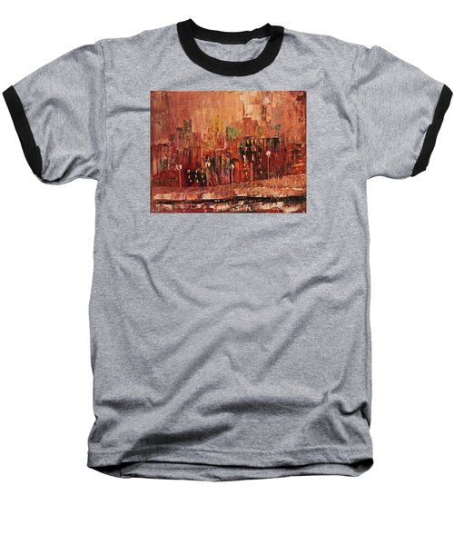 Baseball T-Shirt featuring the painting Mid Town by John Stuart Webbstock
