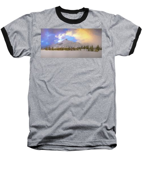 Mid-winter Sunset Baseball T-Shirt