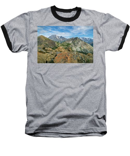 Baseball T-Shirt featuring the photograph Midday At Iron Peak by Ken Stanback
