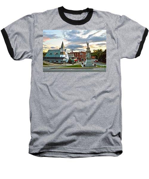 Middlebury Vermont At Sunset Baseball T-Shirt by Catherine Sherman