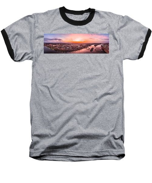 Middletown Connecticut Sunset Baseball T-Shirt by Petr Hejl