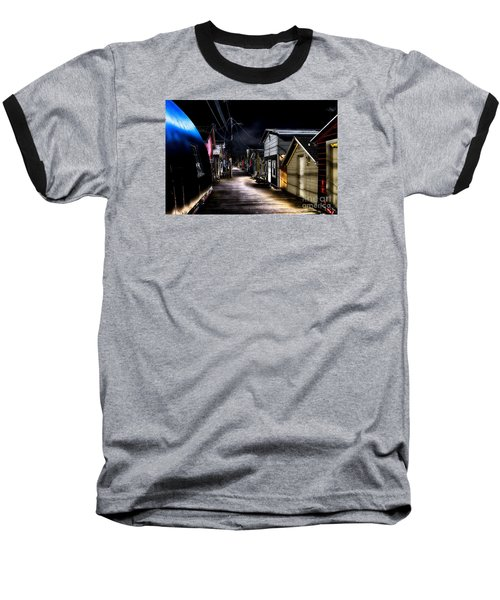 Midnight At The Boathouse Baseball T-Shirt by William Norton