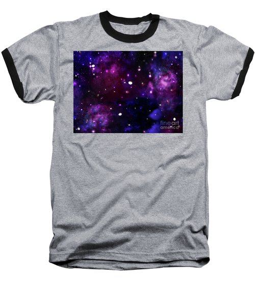 Midnight Blue Purple Galaxy Baseball T-Shirt