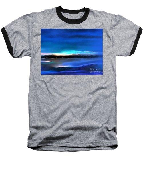 Midnight Blue Baseball T-Shirt by Yul Olaivar
