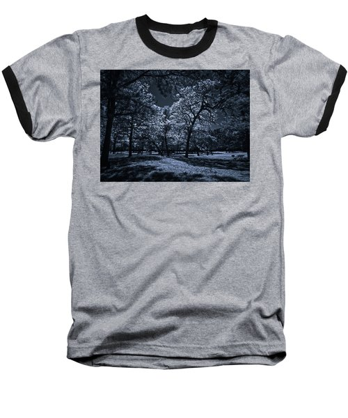 Baseball T-Shirt featuring the photograph Midnight Blues by Linda Unger