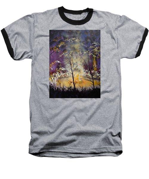 Midnight Campsite Baseball T-Shirt by Dan Whittemore