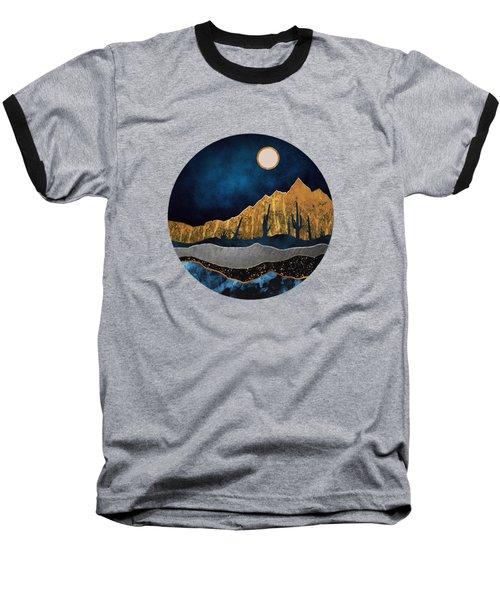 Midnight Desert Moon Baseball T-Shirt