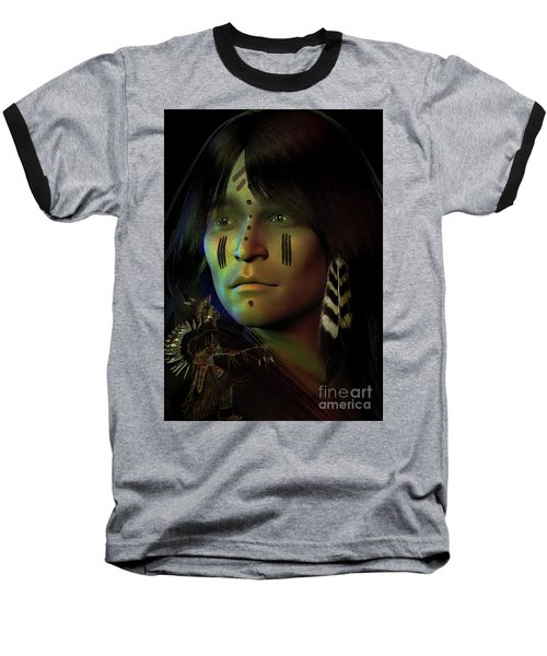Baseball T-Shirt featuring the digital art Midnight Dreaming by Shadowlea Is