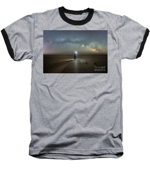 Midnight Explorer At Assateague Island Baseball T-Shirt