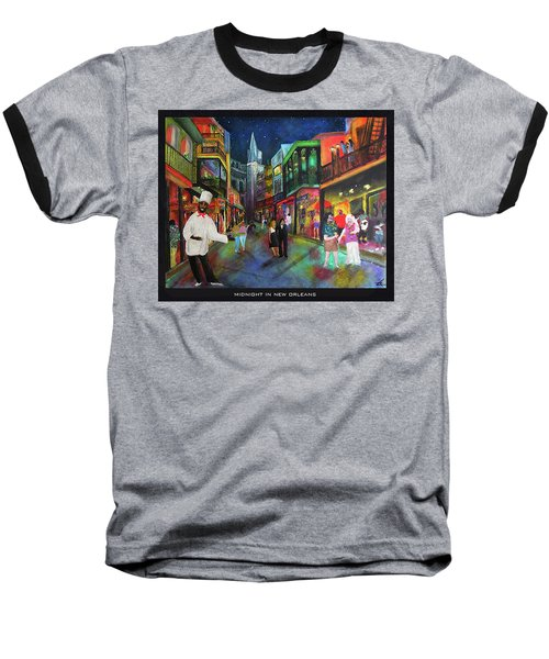 Midnight In New Orleans Baseball T-Shirt