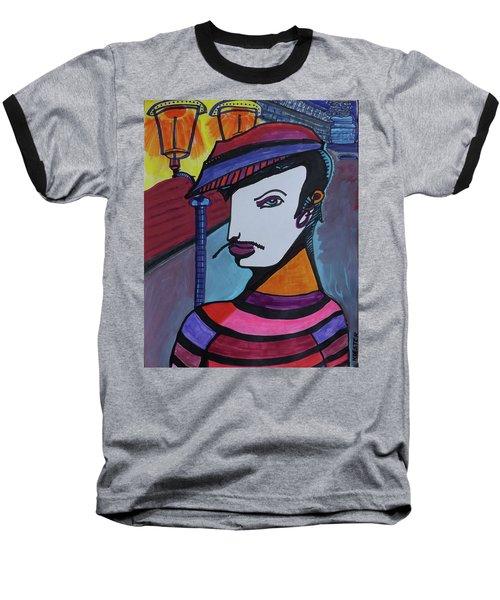 Midnight Mime Baseball T-Shirt