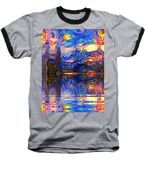 Midnight Oasis Baseball T-Shirt