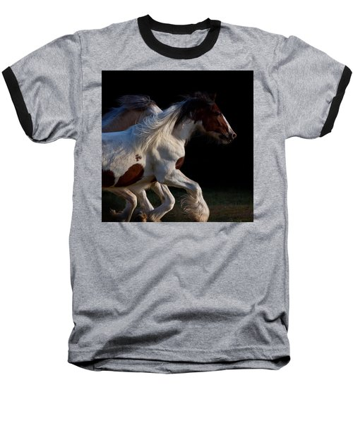 Baseball T-Shirt featuring the photograph Midnight Run by Sharon Jones