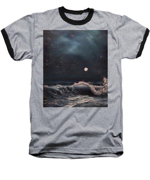 Midnight Surf  Baseball T-Shirt