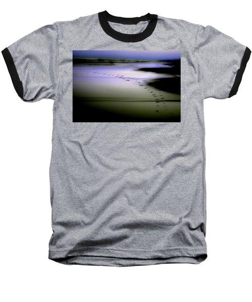Midnight Swim Baseball T-Shirt by Gray  Artus