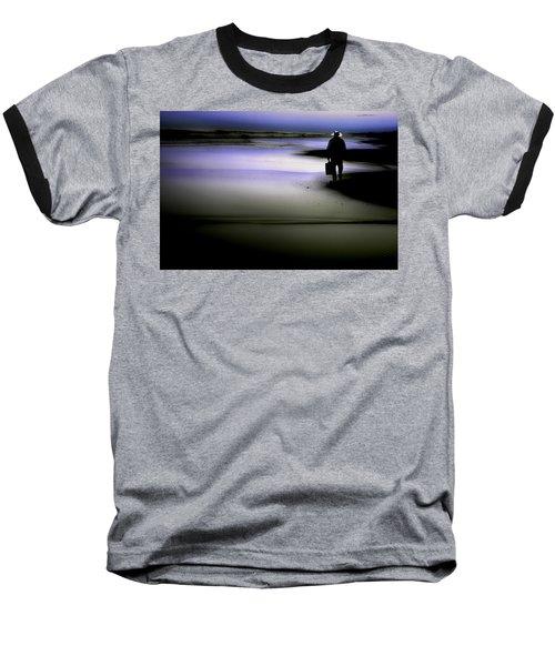 Midnight Wanderer Baseball T-Shirt by Gray  Artus